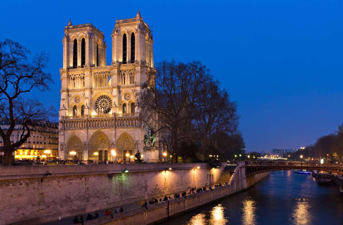 Notre Dame of Paris seen on summer teen travel program