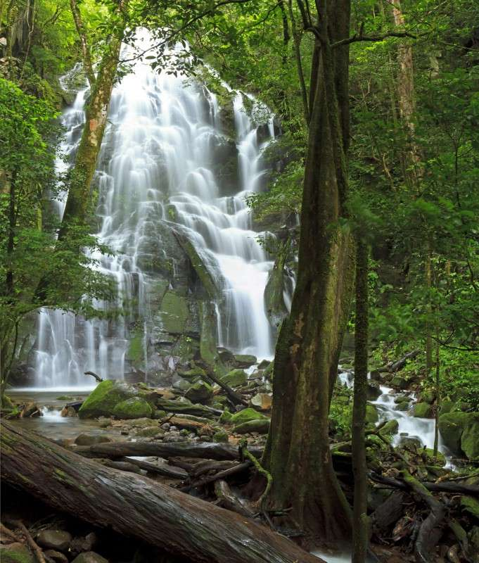 Students explore magnificent waterfalls in Costa Rica on their summer teen adventure tour.