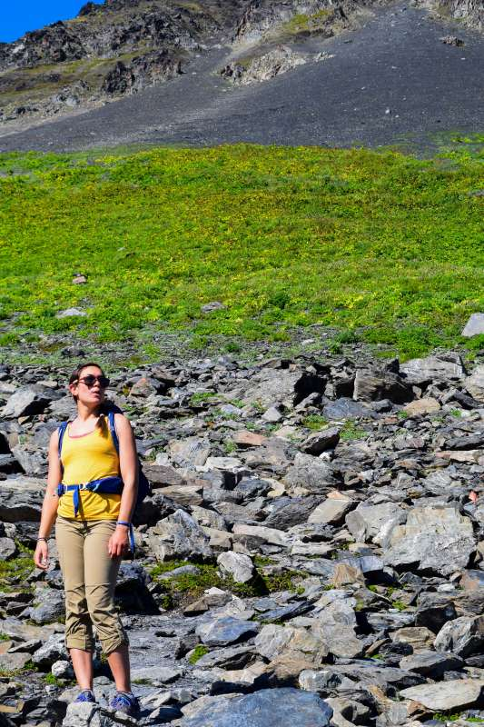 Teen exploring Alaska wilderness on youth travel tour