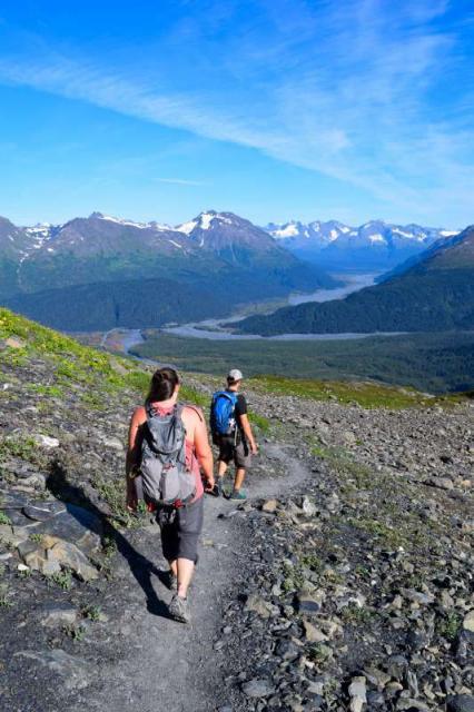Teen travelers exploring Alaska wilderness on summer program