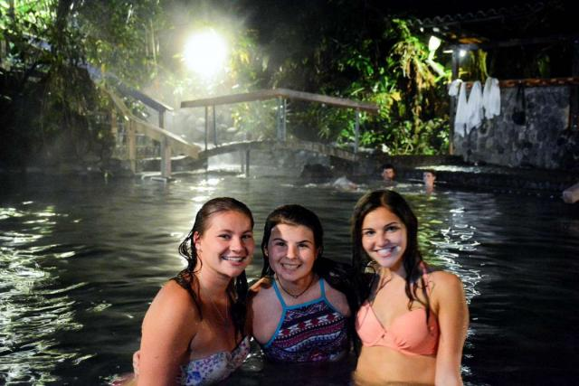 Teens enjoy the water on their summer adventure tour of Costa Rica.