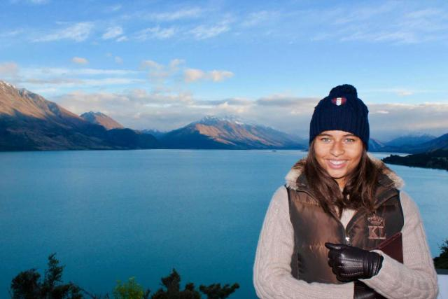 High school student traveler in New Zealand