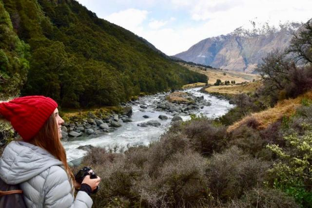 Teen travelers discovering the beauty of nature in New Zealand on a summer teen tour.