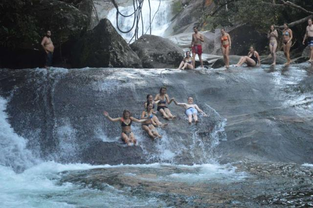 Teens make a splash in waterfalls on a high school summer tour to Australia and New Zealand.