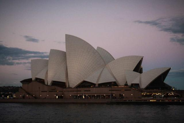 View of the iconic Sydney Opera House in Australia on a teen travel tour.
