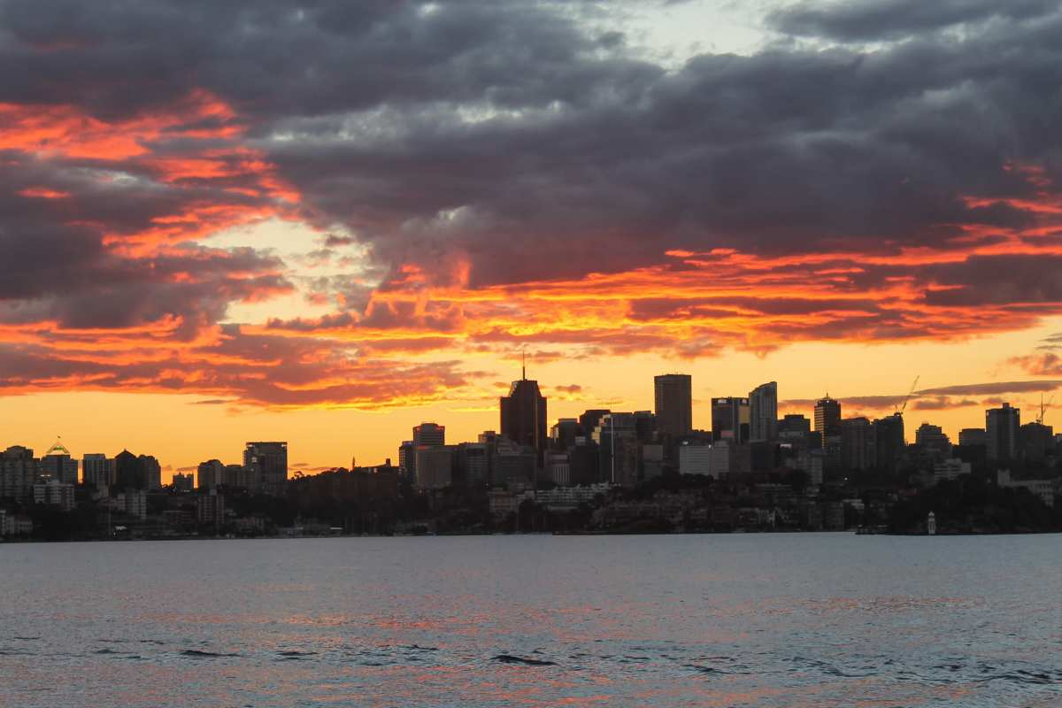 High school travelers capture the sunset on their summer teen tour to Australia and New Zealand.