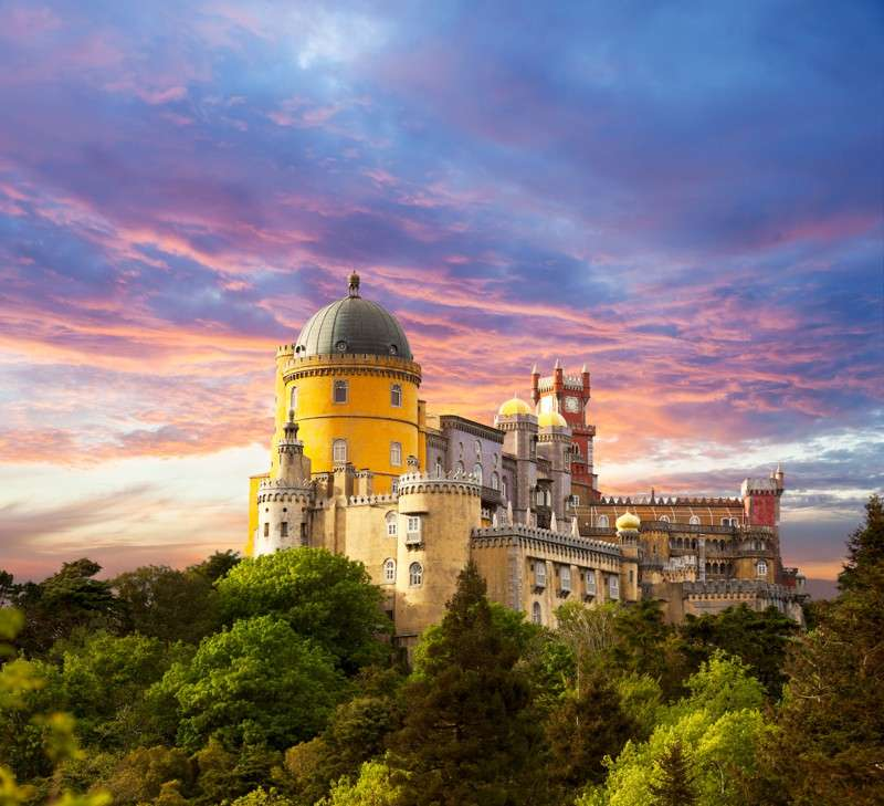 View of Palacio da Pena in Sintra during summer teen adventure travel program to Lisbon