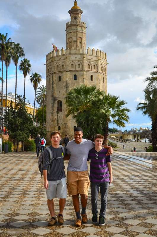 Teenage travelers in Seville during summer teen travel tour