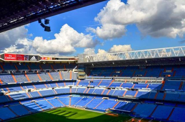 Santiago Bernabeu Football Stadium in Madrid seen on summer teen travel program