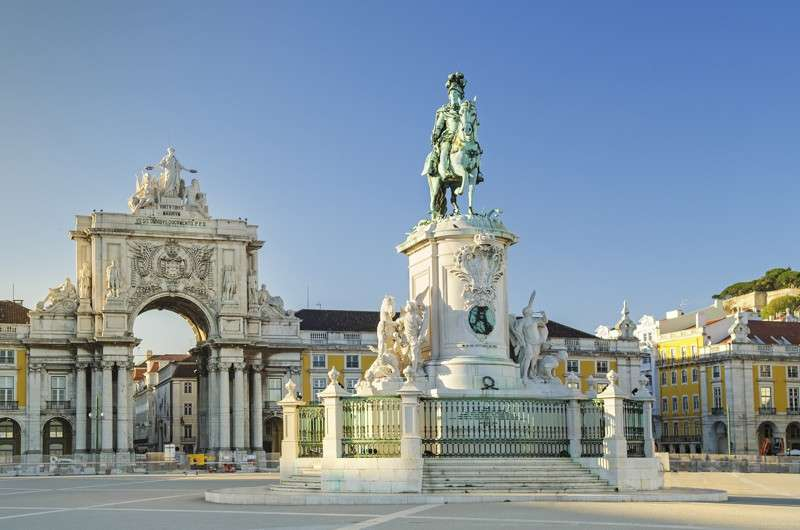 Lisbon Praca do Comercio as seen on a summer teen travel program