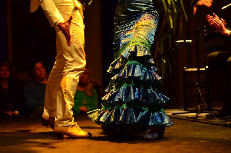 Flamenco dancers dancing in Seville as seen on summer teen travel adventure program