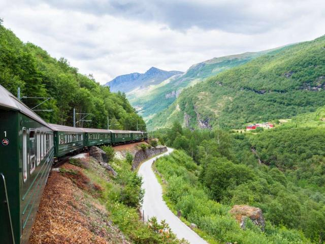 Norway In A Nutshell train taken by student travelers during summer youth travel program in Scandinavia