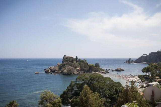 View enjoyed by teenage travelers during summer youth travel program in Sicily Italy