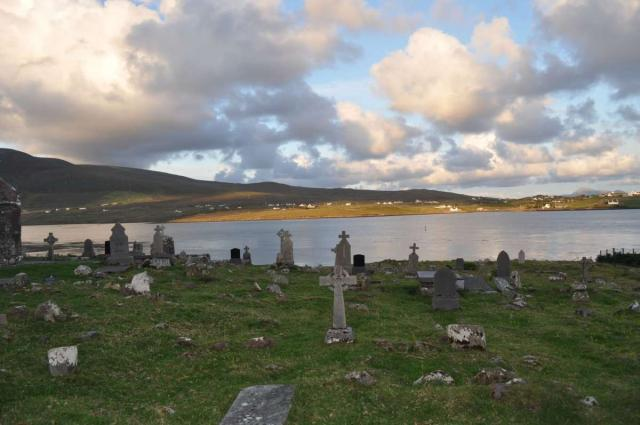 View of Irish cemetery seen on summer teen travel program in Ireland