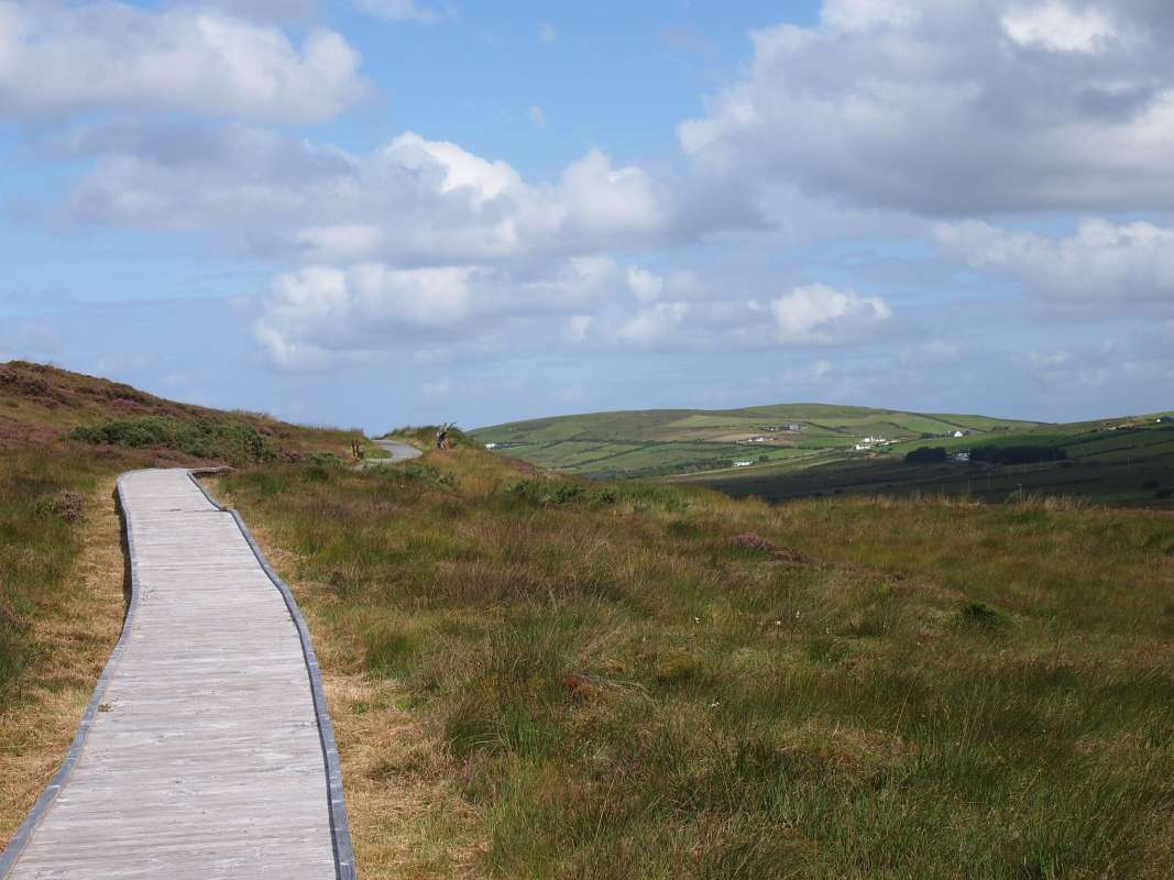 View of Aran Islands bike path seen from summer teen travel program in Ireland
