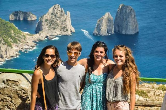 High school students capture the beauty of Capri on their summer teen tour to Italy.