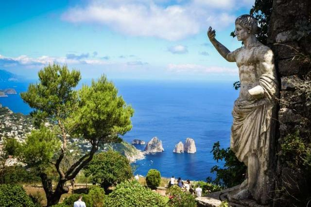 High school students capture the view from Capri on their summer explorer program in Italy.