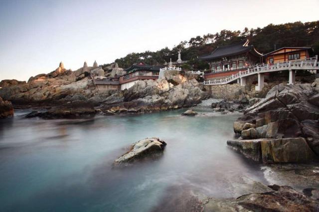 View of Haedong Yonggungsa Temple seen on summer teen travel program in Busan