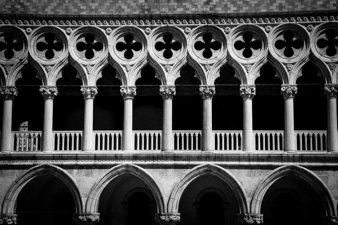 Doge's Palace Venice seen by teens on summer travel photography program