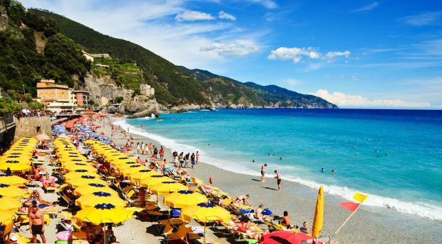 Monterosso al Mare Cinque Terre Beach as seen on summer teen travel photography program
