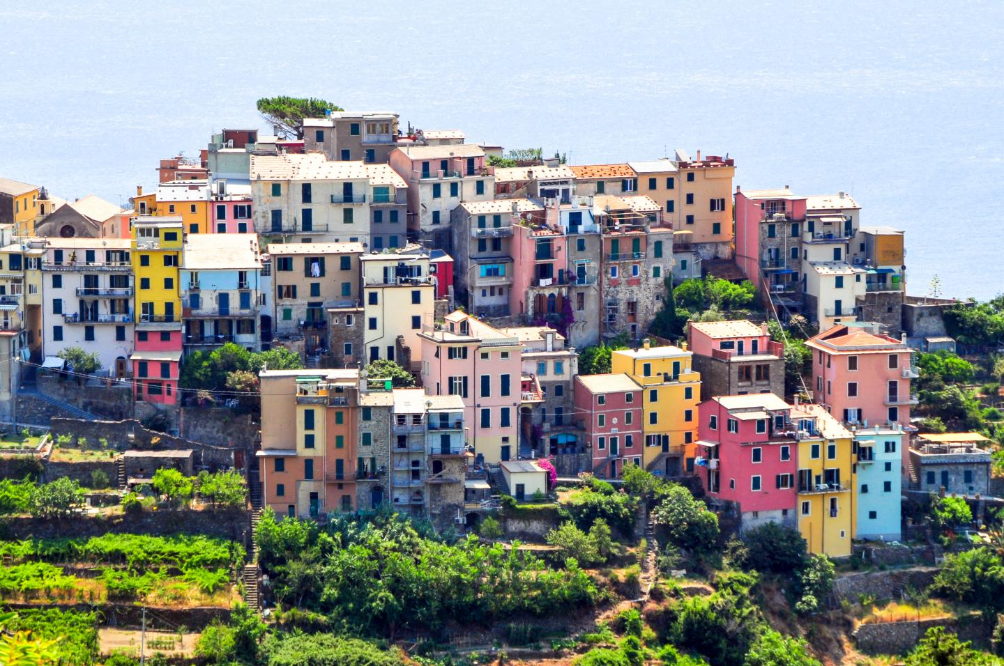 Fishing Village in Cinque Terre seen on summer teen travel photography program