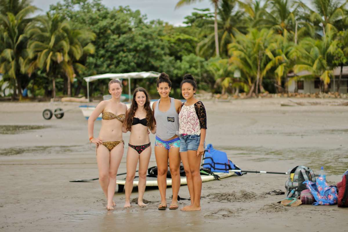 Teens enjoy the beach in Costa Rica on their summer student travel program.