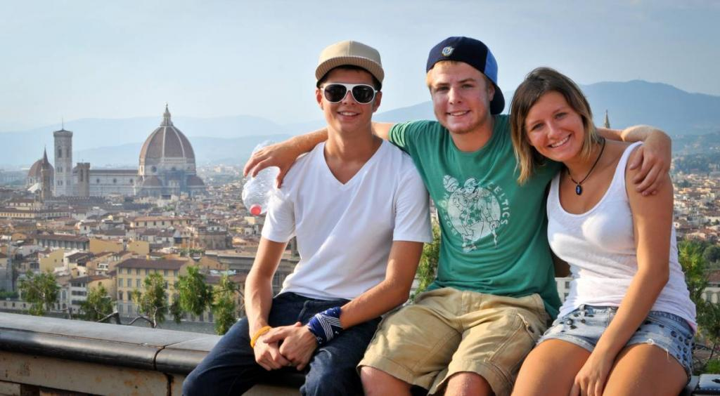 High school travelers catch the view of Rome on their summer teen tour to Italy.