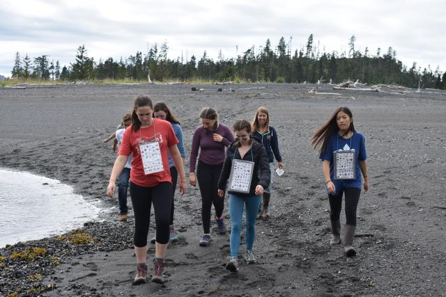 Students learn about wilderness in Alaska on summer service tour for teens.
