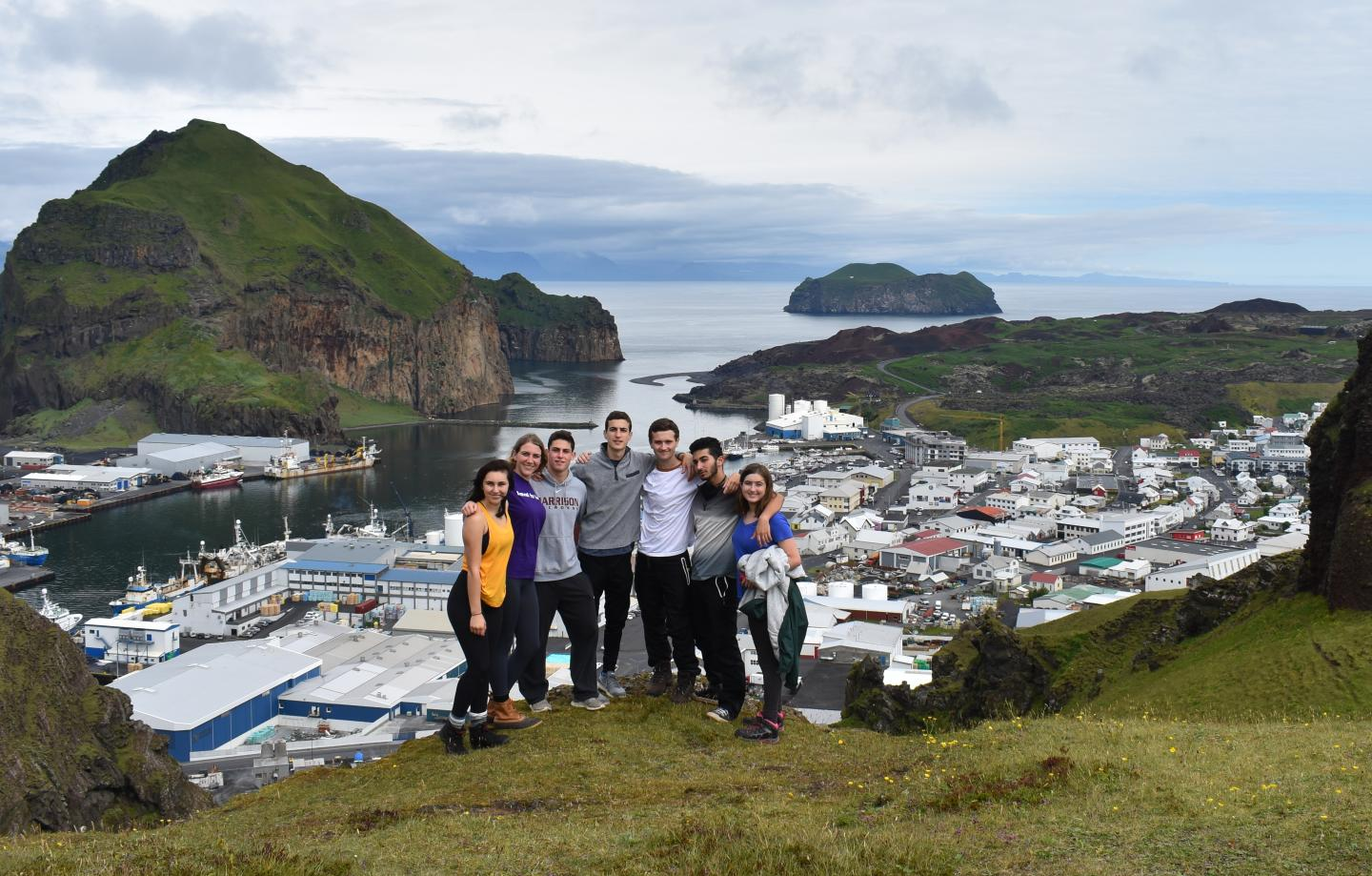 High school students enjoy the views in Iceland during their summer teen tour