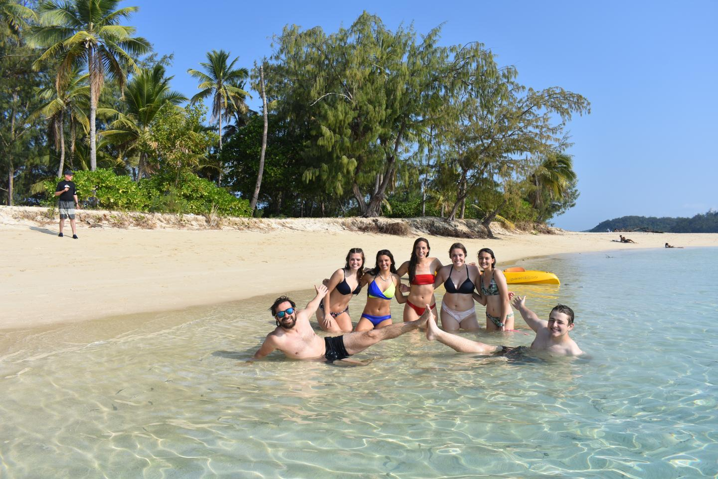 High school travelers relax in tropical paradise on their summer teen tour to Fiji.