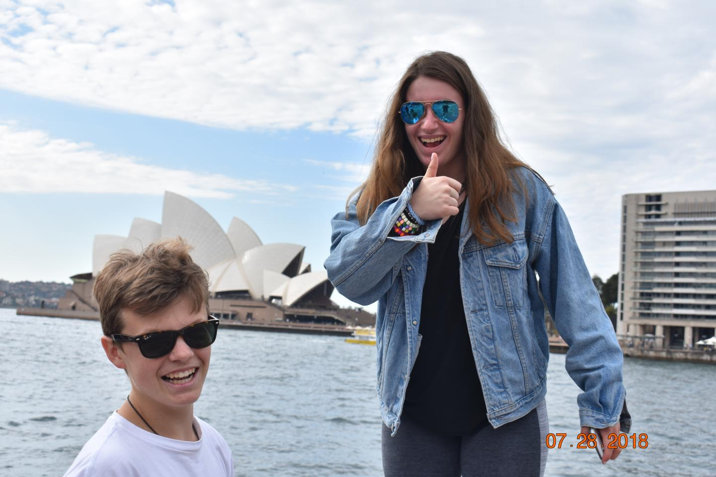 High school travelers hang out at the Sydney Opera House on their summer teen tour to Australia.