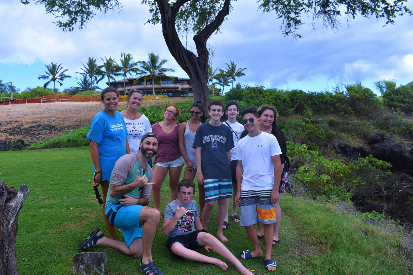 Teens enjoy the outdoors on their summer travel tour of Hawaii.