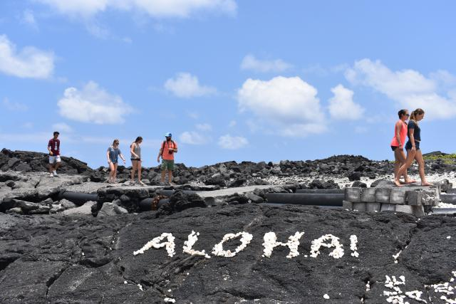 Students check out the views on their teen travel tour of Hawaii.