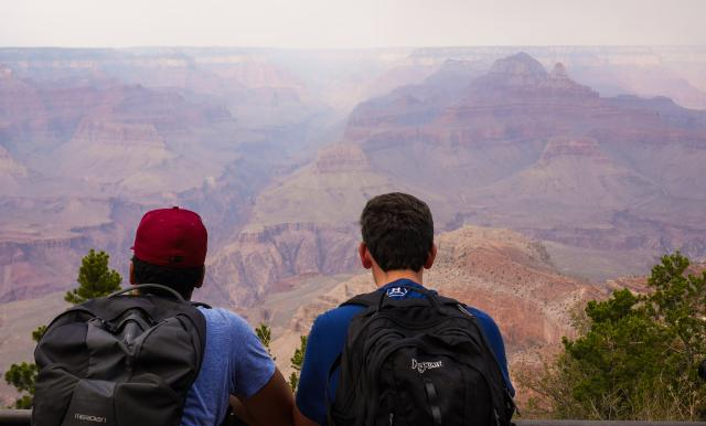 Teens enjoy epic views of the Grand Canyon during their summer travel program in Arizona.