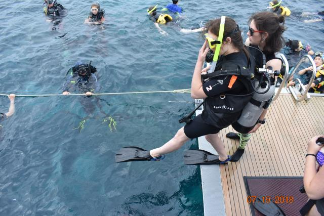 High school traveler dives into the Great Barrier Reef on their summer teen tour to Australia.