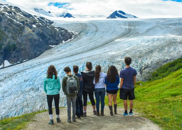 Ice Field Group Alaska
