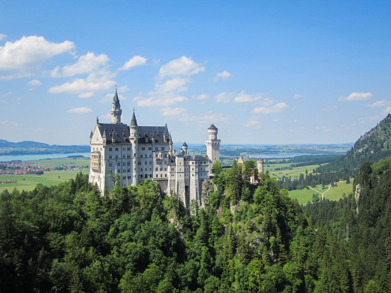 View of Neuschwanstein Castle Bavaria seen on summer teen travel program