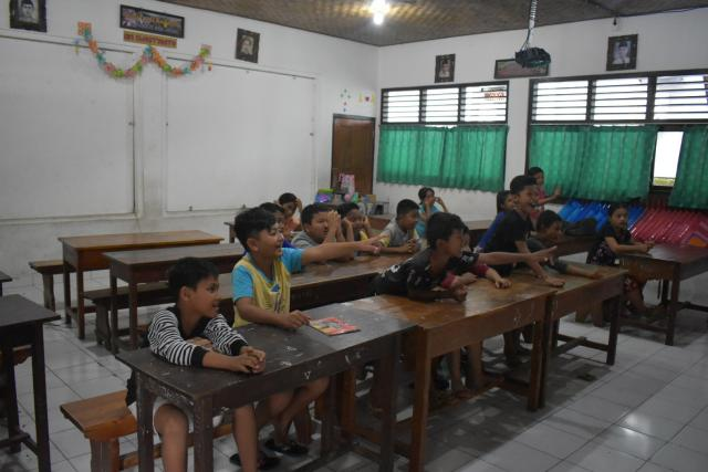Local children in classroom in Bali, Indonesia