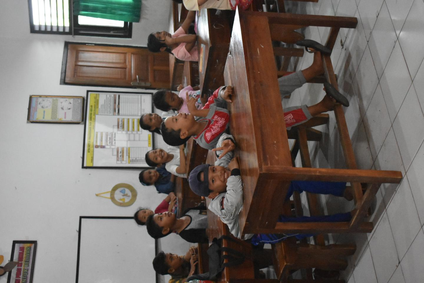 Children in the classroom in Bali, Indonesia