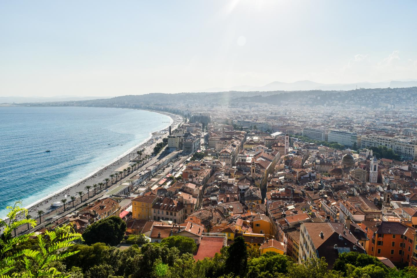 View of Nice Côte d'Azur seen on summer teen travel program