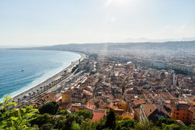 View of Nice Côte d'Azur seen on summer teen travel program