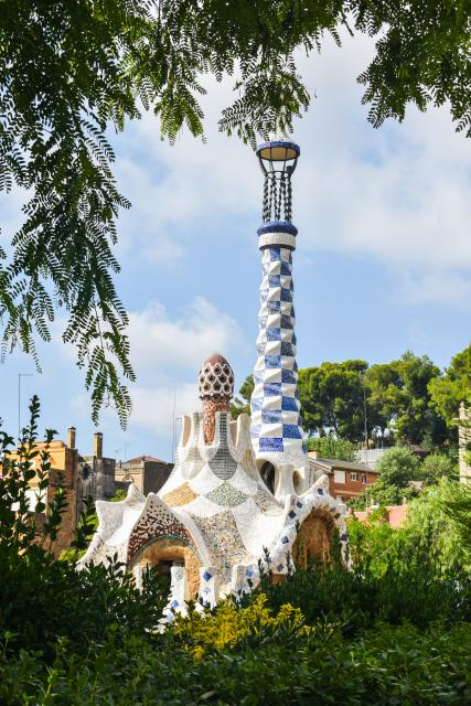 View of Parc Guell Barcelona seen on summer teen tour to Spain