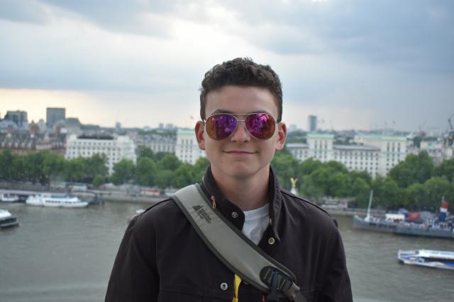 Teenage traveler in Paris on summer teen travel tour program