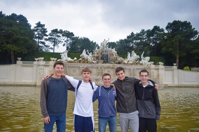 Teen travelers exploring Vienna during summer youth travel program