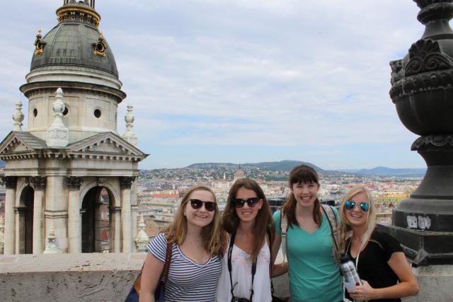 Teenagers sightseeing in Europe on summer teen travel program