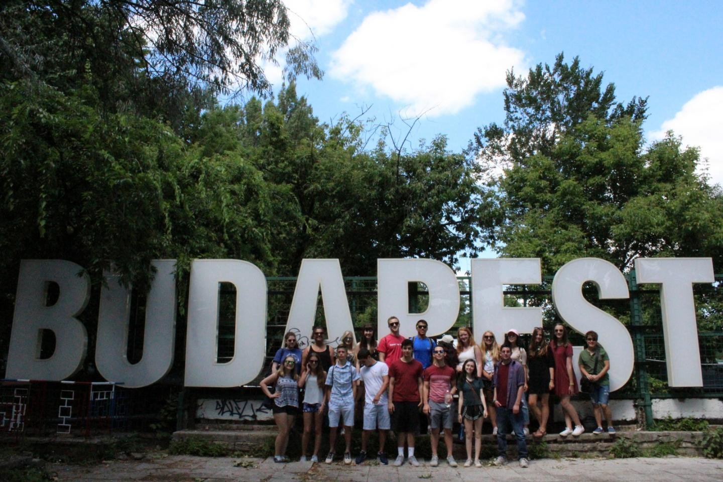 Teen travelers explore Budapest during summer youth travel program