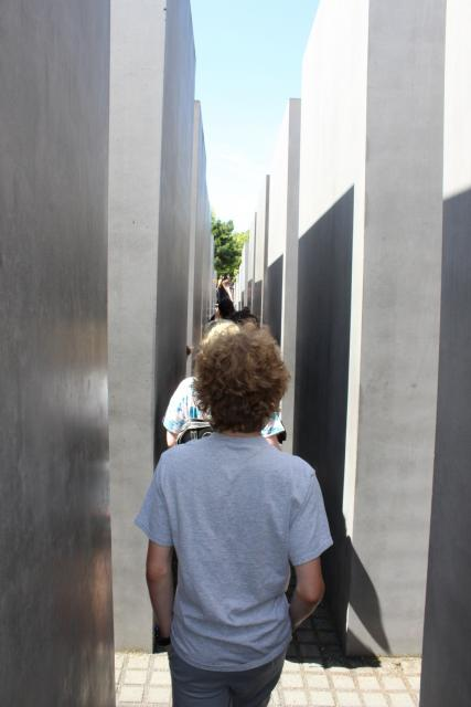Teen travelers explore Berlin Holocaust Memorial during summer youth travel program
