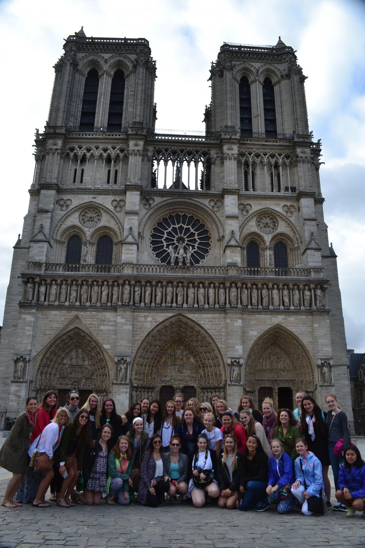 Teen travel Notre Dame Paris France