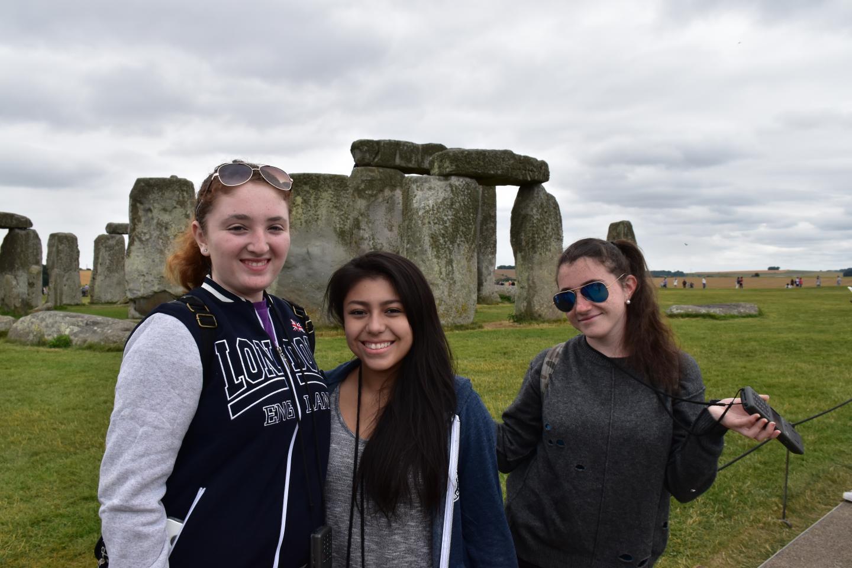 High school teens at Stonehenge