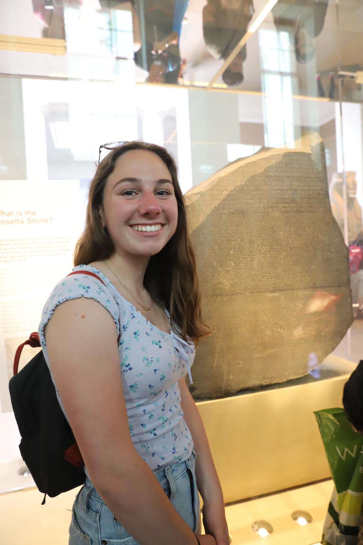High school teen at the Rosetta Stone